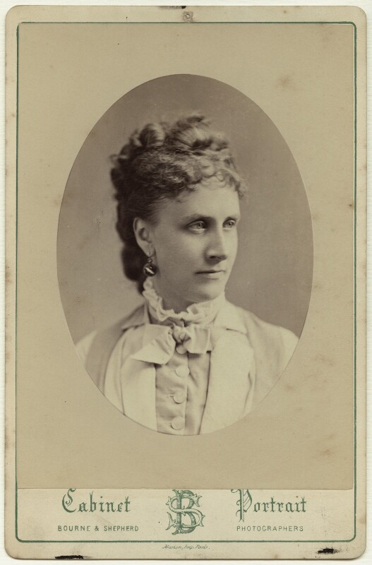 Edith Bulwer-Lytton (née Villiers), Countess of Lytton, by Bourne & Shepherd, 1876 - NPG x129627 - © National Portrait Gallery, London