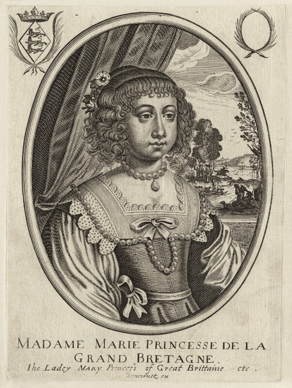 Mary, Princess Royal and Princess of Orange, published by Balthasar Moncornet, mid 17th century - NPG D26433 - © National Portrait Gallery, London
