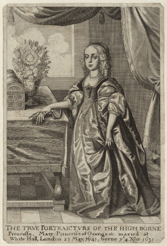 Mary, Princess of Orange, by Wenceslaus Hollar, mid 17th century - NPG D26434 - © National Portrait Gallery, London