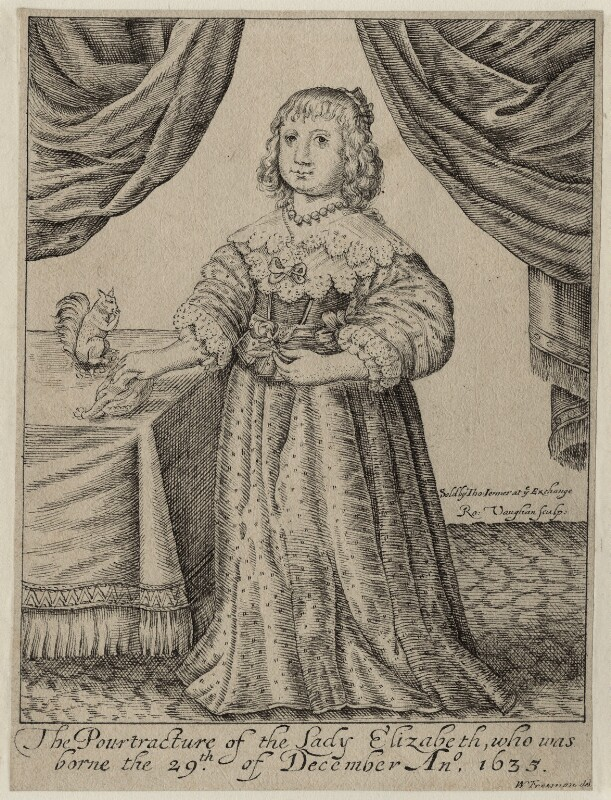 Princess Elizabeth, by Robert Vaughan, published by  Thomas Jenner, mid 17th century - NPG D26441 - © National Portrait Gallery, London