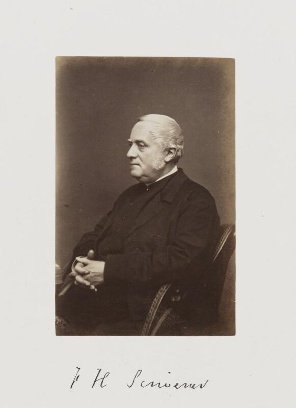 Frederick Henry Ambrose Scrivener, by Samuel Alexander Walker, published 1874 - NPG Ax29250 - © National Portrait Gallery, London