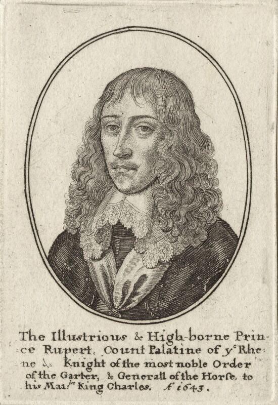 Prince Rupert, Count Palatine, by Wenceslaus Hollar, mid 17th century - NPG D26477 - © National Portrait Gallery, London