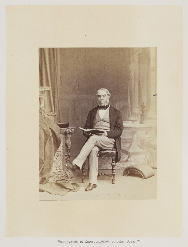 Sir George Back, by Ernest Edwards, published by  Alfred William Bennett, published 1865 - NPG Ax14765 - © National Portrait Gallery, London