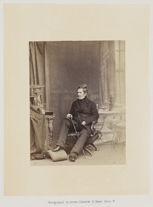 Sir George de Lacy Evans, by Ernest Edwards, published by  Alfred William Bennett, published 1865 - NPG Ax14772 - © National Portrait Gallery, London