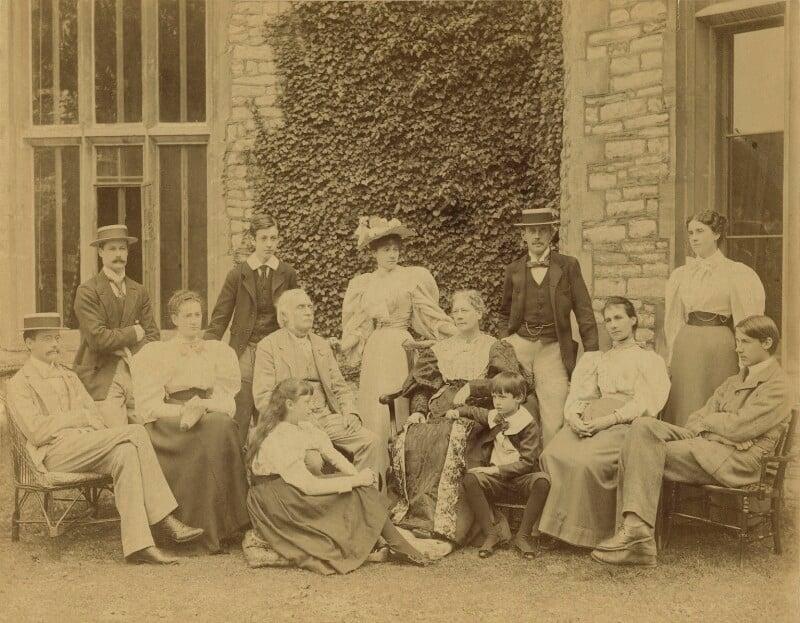 The Strachey family, by Graystone Bird, circa 1893 - NPG x32166 - © National Portrait Gallery, London