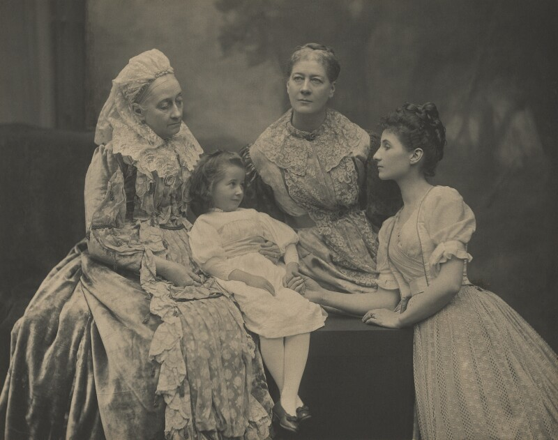 Lady Strachey and family, by Unknown photographer, early 1890 - NPG x26141 - © National Portrait Gallery, London