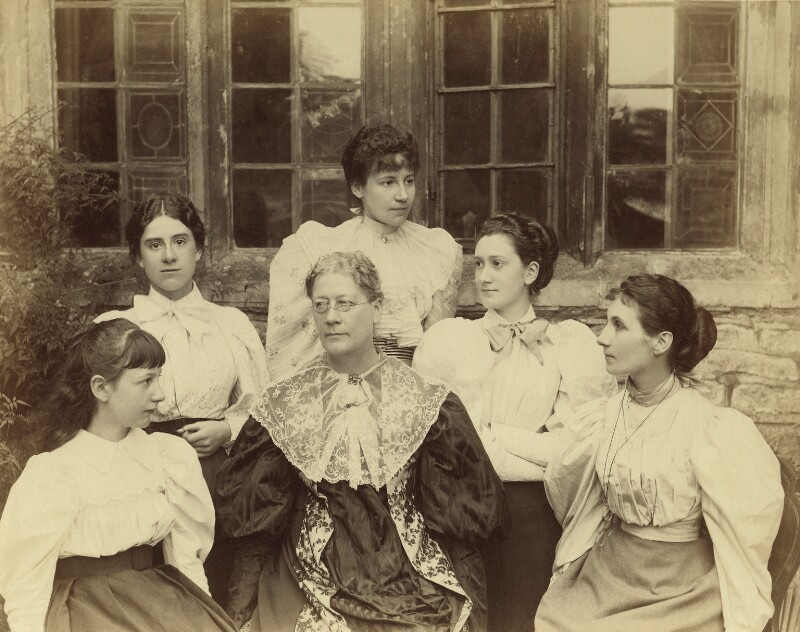 Lady Strachey and daughters, by Graystone Bird, circa 1893 - NPG x13111 - © National Portrait Gallery, London