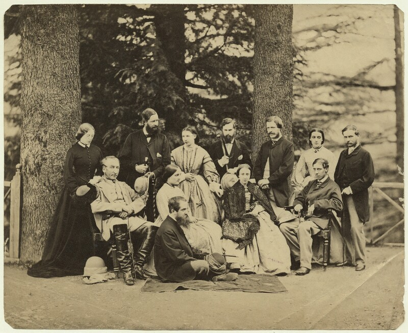 Group of officials and relatives, Simla, possibly by Bourne & Shepherd, 1860s - NPG x129635 - © National Portrait Gallery, London