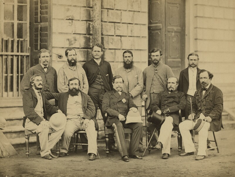 Group of officials, Simla, possibly by Bourne & Shepherd, circa 1864 - NPG x129638 - © National Portrait Gallery, London