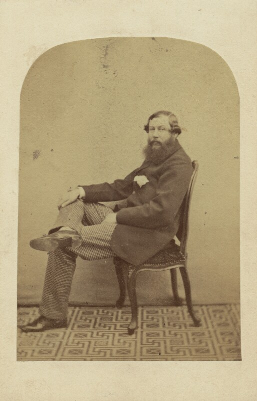 Claud Bowes-Lyon, 13th Earl of Strathmore and Kinghorne, by Unknown photographer, 1860s - NPG x26571 - © National Portrait Gallery, London