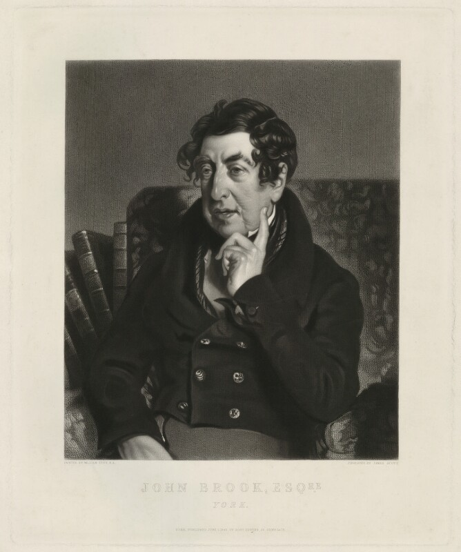 John Brook, by James Scott, after  William Etty, published 1849 (1838) - NPG D32173 - © National Portrait Gallery, London