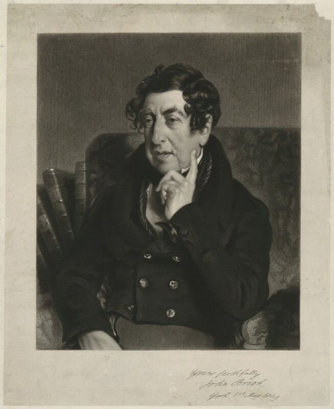 John Brook, by James Scott, after  William Etty, published 1849 (1838) - NPG D32174 - © National Portrait Gallery, London