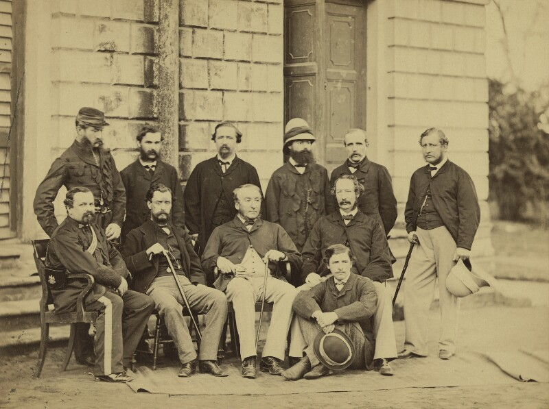 Group of officials, Simla, possibly by Bourne & Shepherd, 1860s - NPG x129647 - © National Portrait Gallery, London