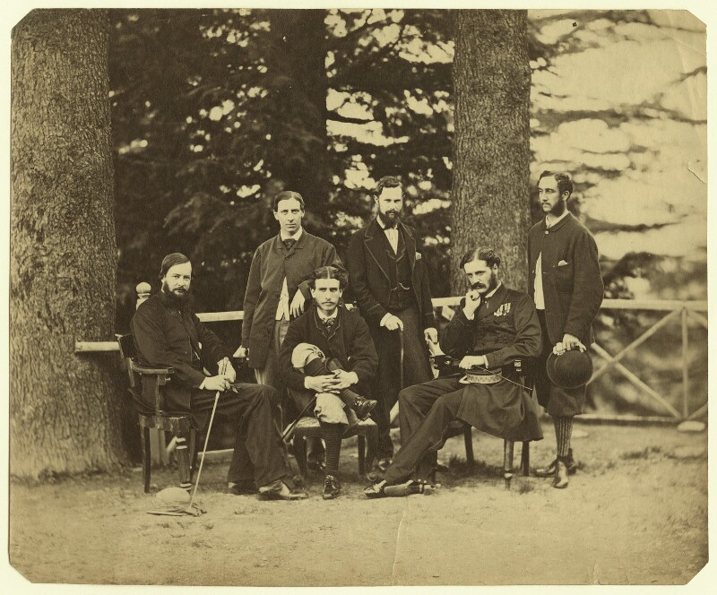 Group of officials, Simla, possibly by Bourne & Shepherd, 1860s - NPG x129648 - © National Portrait Gallery, London