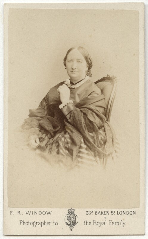Catherine Marsh, by Frederick Richard Window, 1860s - NPG x21215 - © National Portrait Gallery, London
