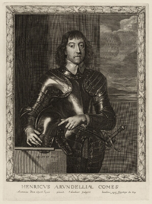 Henry Frederick Howard, 15th Earl of Arundel, 5th Earl of Surrey and 2nd Earl of Norfolk, by Pierre Lombart, after  Sir Anthony van Dyck, circa 1660 - NPG D26509 - © National Portrait Gallery, London