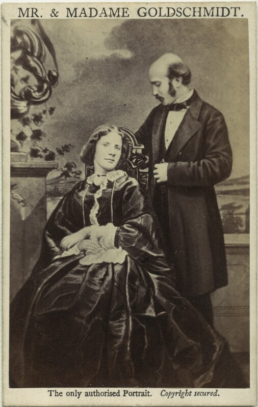 Jenny Lind; Otto Moritz David Goldschmidt, by and after Henry Murray, 1862 - NPG x17301 - © National Portrait Gallery, London