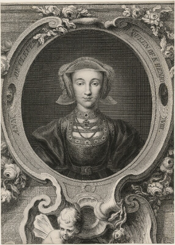 Anne of Cleves, by Jacobus Houbraken, after  Hans Holbein the Younger, 1743 or after - NPG D9087 - © National Portrait Gallery, London