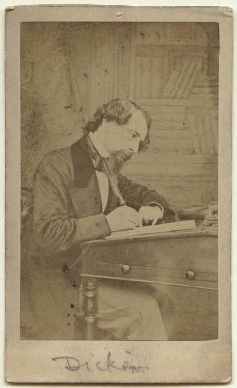 Charles Dickens, by Herbert Watkins, 1858 - NPG Ax18262 - © National Portrait Gallery, London