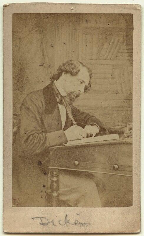 Charles Dickens, by (George) Herbert Watkins, 1858 - NPG Ax18262 - © National Portrait Gallery, London