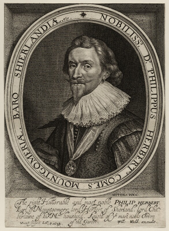 Philip Herbert, 4th Earl of Pembroke, by Robert van Voerst, published by  William Webb, after  Daniel Mytens, 1630 - NPG D26550 - © National Portrait Gallery, London