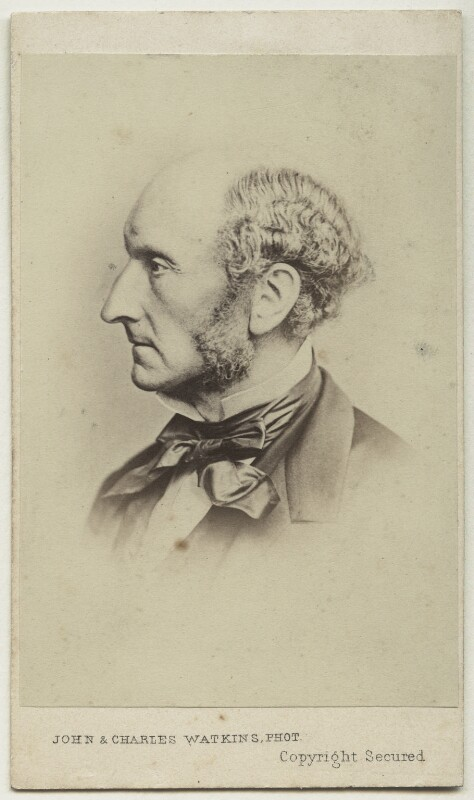 John Stuart Mill, by John & Charles Watkins, or by  John Watkins, 1865 - NPG Ax17818 - © National Portrait Gallery, London