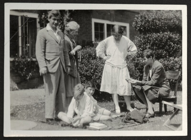 Philip Sargant Florence and family, possibly by James Beaumont Strachey, late 1920s - NPG Ax24021 - © National Portrait Gallery, London