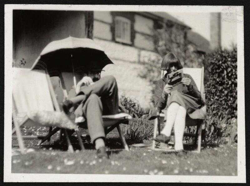 Lytton Strachey; Dora Carrington, by Unknown photographer, 1920s - NPG Ax24020 - © National Portrait Gallery, London