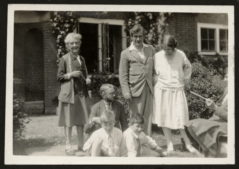 Mary Sargant-Florence and family, by Unknown photographer, late 1920s - NPG Ax24023 - © National Portrait Gallery, London