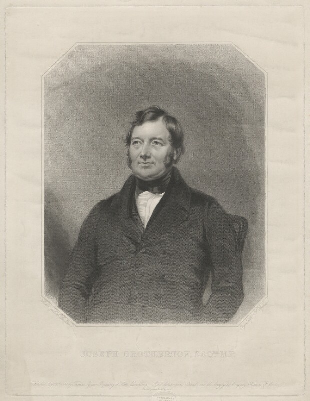 Joseph Brotherton, by Samuel William Reynolds Jr, after  Charles Allen Duval, published 1844 - NPG D32196 - © National Portrait Gallery, London
