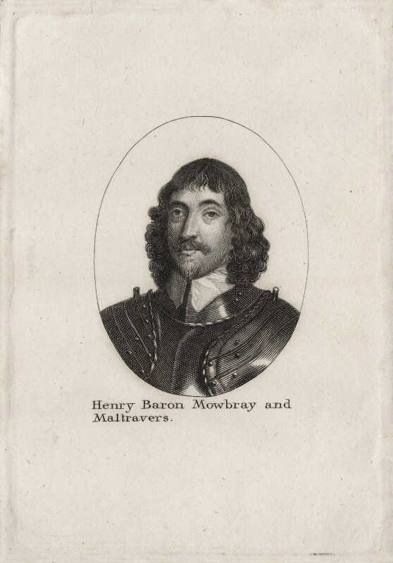 Henry Frederick Howard, 15th Earl of Arundel, 5th Earl of Surrey and 2nd Earl of Norfolk, after Wenceslaus Hollar, early 19th century - NPG D26636 - © National Portrait Gallery, London