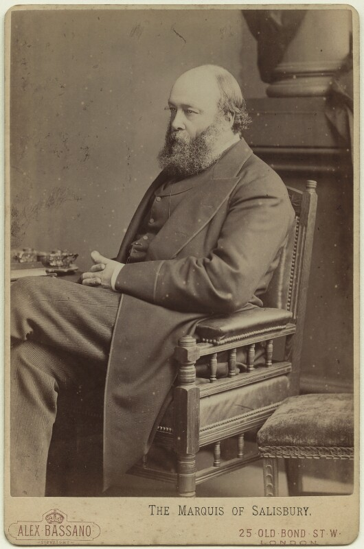 Robert Gascoyne-Cecil, 3rd Marquess of Salisbury, by Alexander Bassano, 1883 - NPG x27751 - © National Portrait Gallery, London