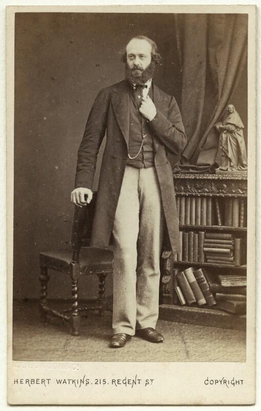 Robert Gascoyne-Cecil, 3rd Marquess of Salisbury, by Herbert Watkins, early 1870s - NPG x75845 - © National Portrait Gallery, London