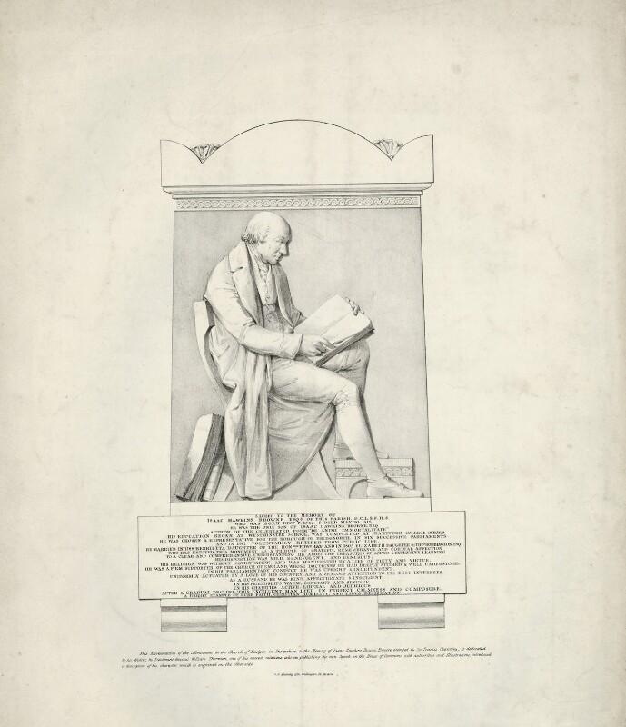 Isaac Hawkins Browne, by George Edward Madeley, after  Sir Francis Leggatt Chantrey, (1818) - NPG D32225 - © National Portrait Gallery, London
