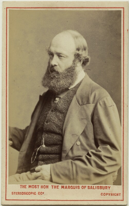 Robert Gascoyne-Cecil, 3rd Marquess of Salisbury, by London Stereoscopic & Photographic Company, 1873 - NPG Ax28462 - © National Portrait Gallery, London