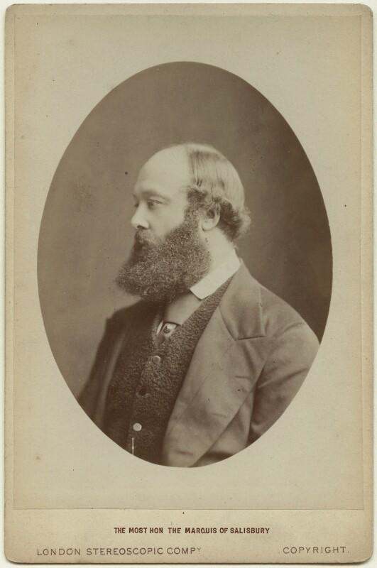 Robert Gascoyne-Cecil, 3rd Marquess of Salisbury, by London Stereoscopic & Photographic Company, 1873 - NPG x6853 - © National Portrait Gallery, London