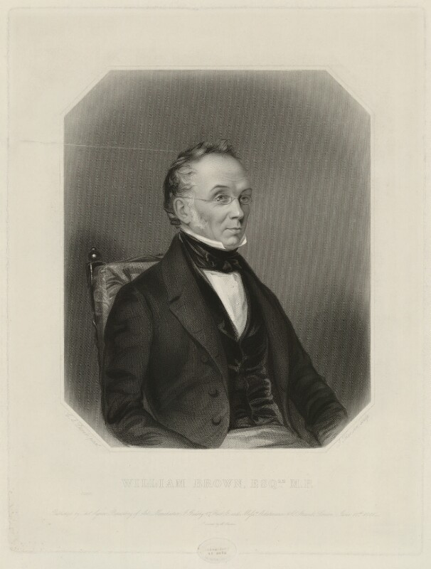 Sir William Brown, 1st Bt, by James Thomson (Thompson), after  Charles Allen Duval, published 1846 - NPG D32231 - © National Portrait Gallery, London