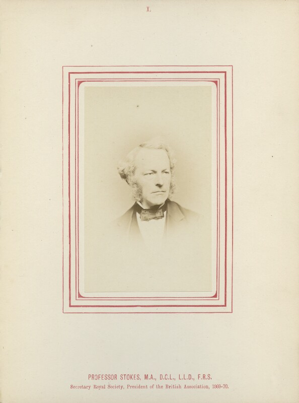 Sir George Gabriel Stokes, 1st Bt, by George Charles Wallich, published by  John Van Voorst, published 1870 - NPG Ax14788 - © National Portrait Gallery, London