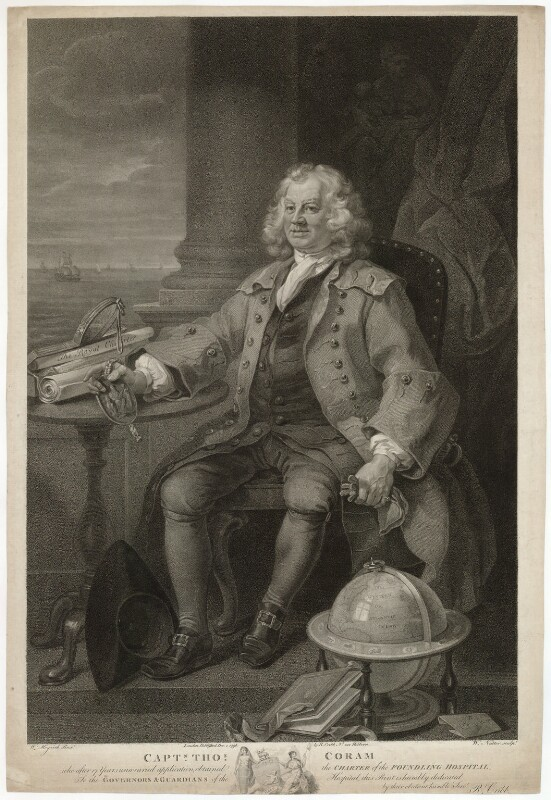 Thomas Coram, by William Nutter, after  William Hogarth, published 1796 - NPG D9102 - © National Portrait Gallery, London