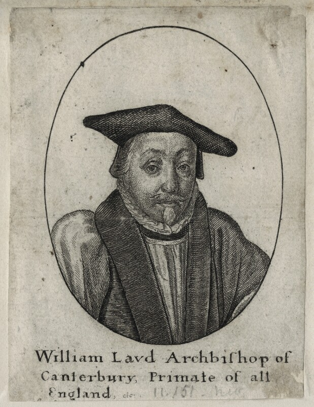 William Laud, by Wenceslaus Hollar, after  Sir Anthony van Dyck, mid 17th century (circa 1635-1637) - NPG D26703 - © National Portrait Gallery, London