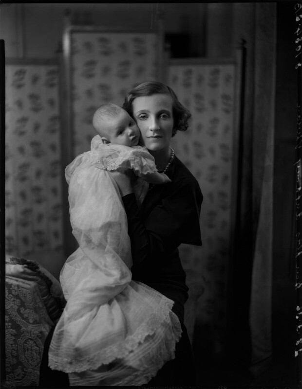 Lady Vivian with her son Nicholas, by Bassano Ltd, 23 March 1936 - NPG x151989 - © National Portrait Gallery, London