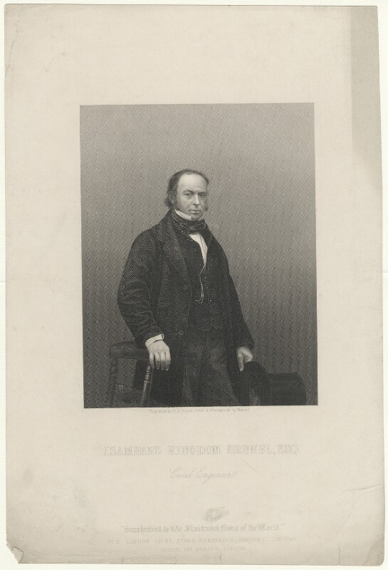 Isambard Kingdom Brunel, by Daniel John Pound, after a photograph by  John Jabez Edwin Mayall, published 1859 - NPG D32246 - © National Portrait Gallery, London