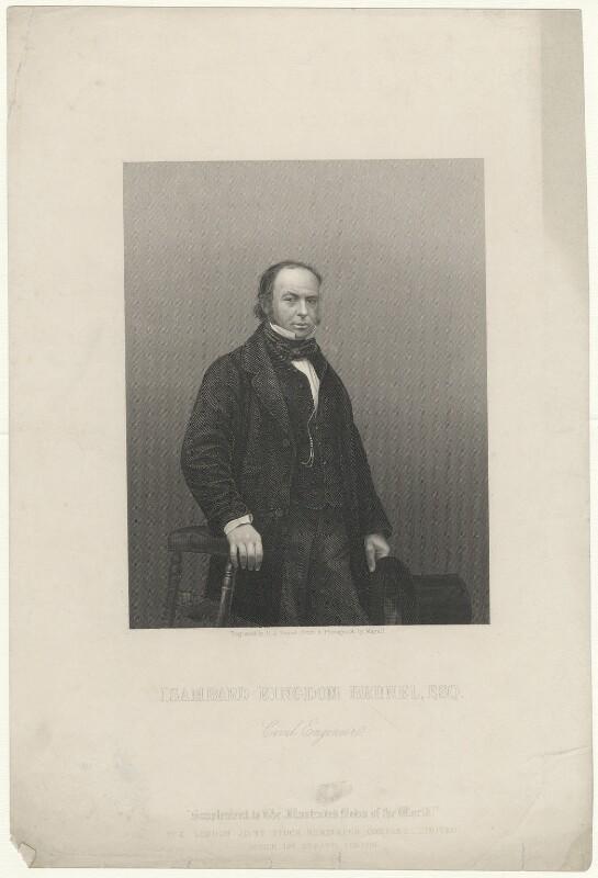 Isambard Kingdom Brunel, by Daniel John Pound, after a photograph by  John Jabez Edwin Mayall, published 1859 - NPG D32246 - © National Portrait Gallery, London
