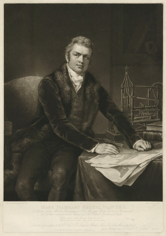 Sir Marc Isambard Brunel, by Charles Turner, after  James Northcote, published 1815 - NPG D32248 - © National Portrait Gallery, London
