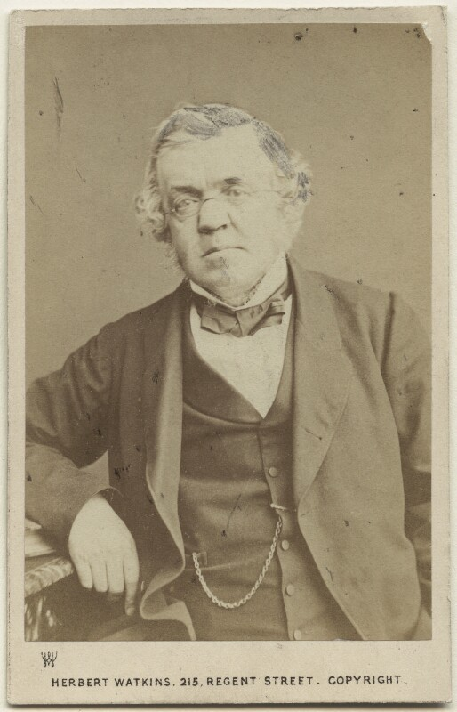 William Makepeace Thackeray, by Herbert Watkins, 1860-1863 - NPG Ax46259 - © National Portrait Gallery, London