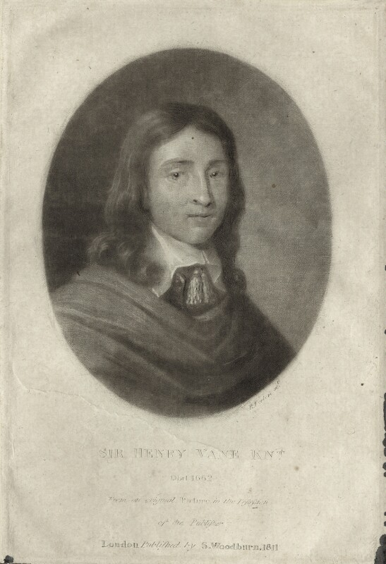 Sir Henry Vane the Younger, after Unknown artist, published by  Samuel Woodburn, published 1811 - NPG D26928 - © National Portrait Gallery, London
