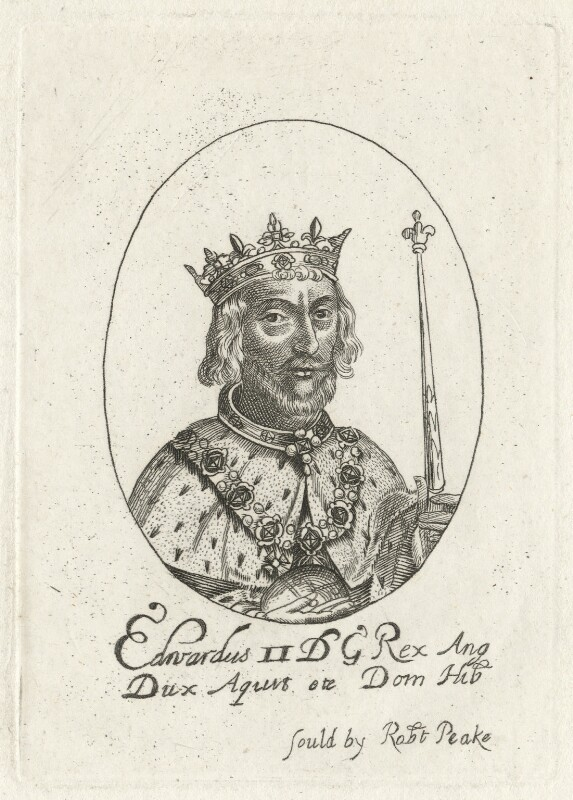 King Edward II, possibly by William Faithorne, published by  Robert Peake the Elder, early 1640s - NPG D23686A - © National Portrait Gallery, London