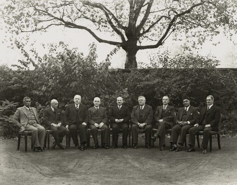 Clement Attlee and Prime Ministers at the Commonwealth Conference, by Bassano Ltd, 11 October 1948 - NPG x71997 - © National Portrait Gallery, London