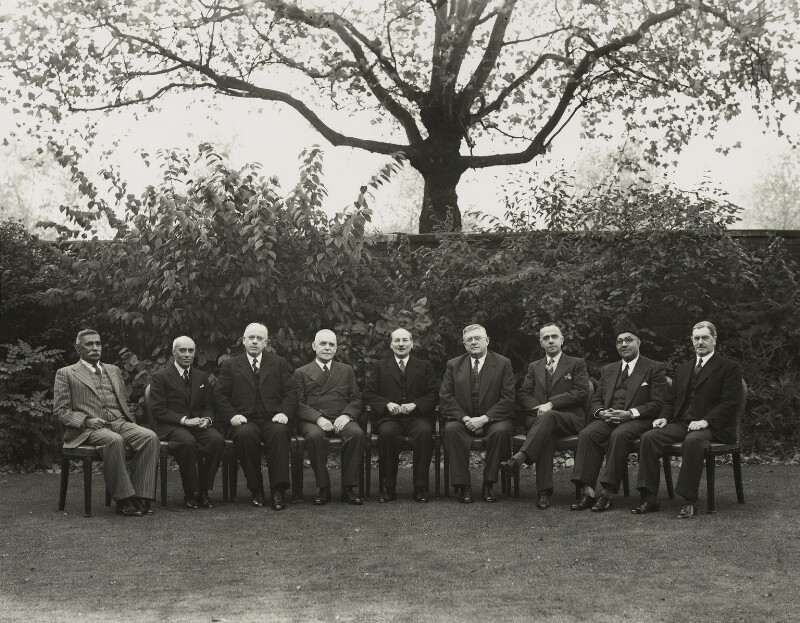 Clement Attlee and Prime Ministers at the Commonwealth Conference, by Bassano Ltd, 11 October 1948 - NPG x71998 - © National Portrait Gallery, London