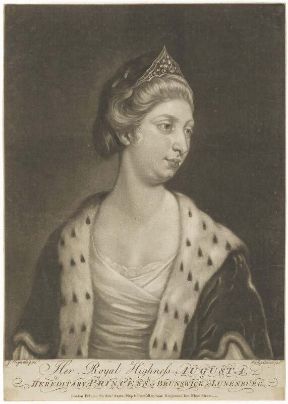 Princess Augusta Charlotte, Duchess of Brunswick-Wolfenbüttell, by Richard Purcell (H. Fowler, Charles or Philip Corbutt), after  Sir Joshua Reynolds, mid 18th century - NPG D9118 - © National Portrait Gallery, London